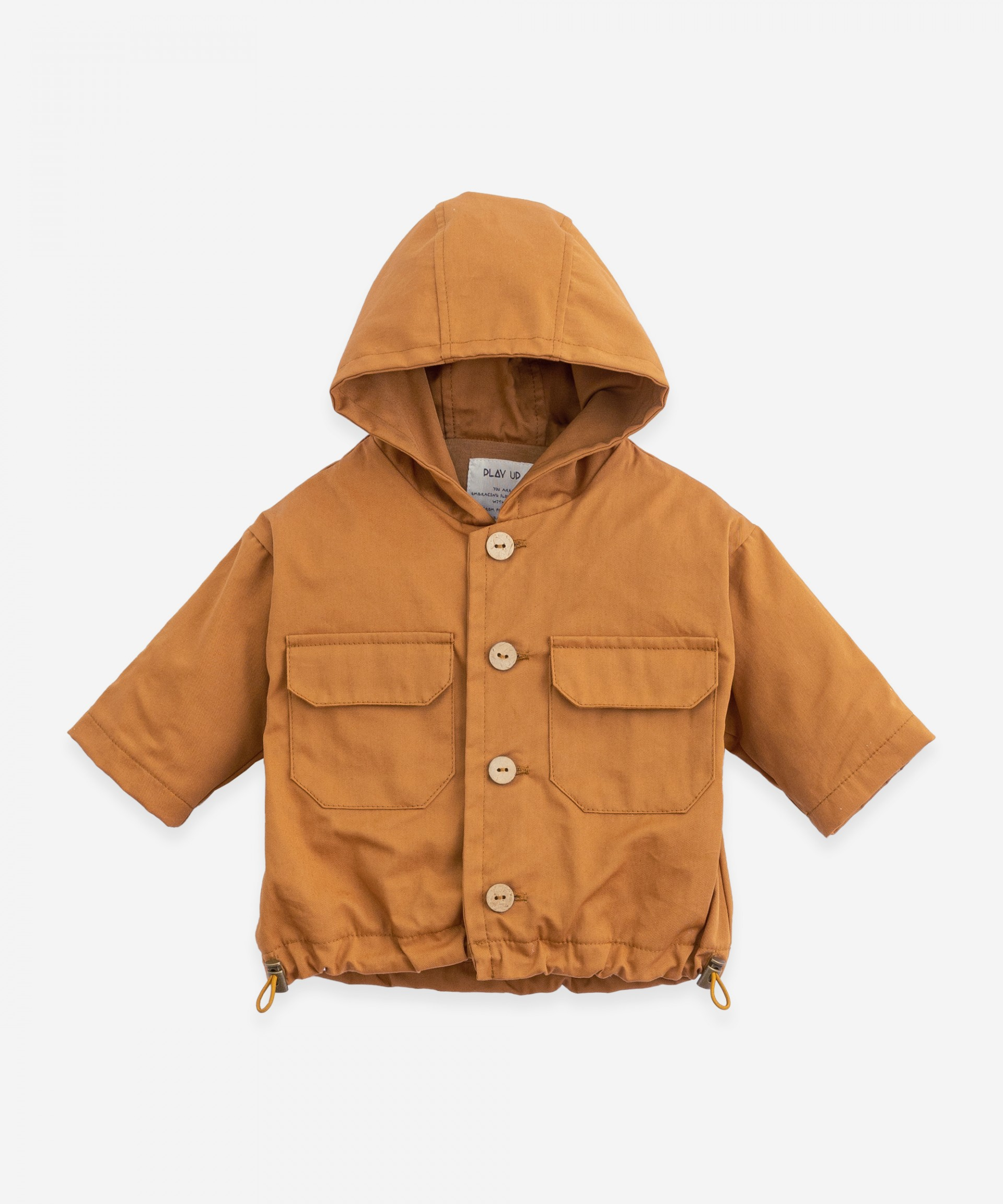 Twill hooded jacket | Botany