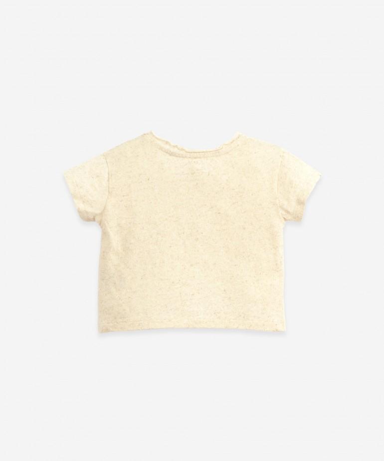 T-shirt in organic cotton and hemp
