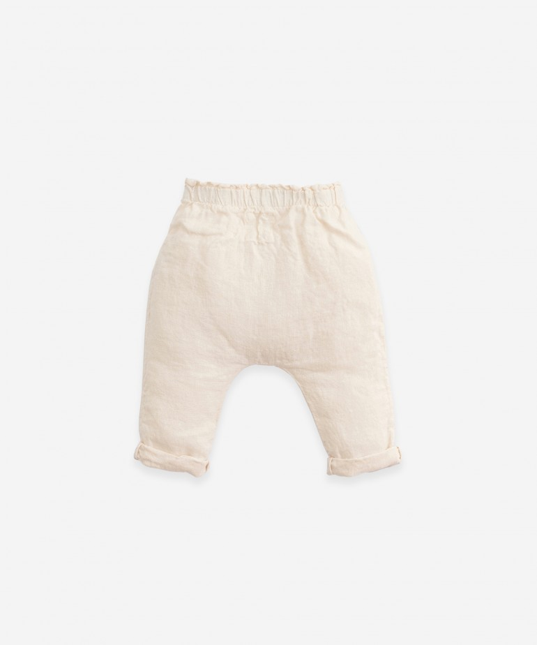 Linen trousers with jute cord