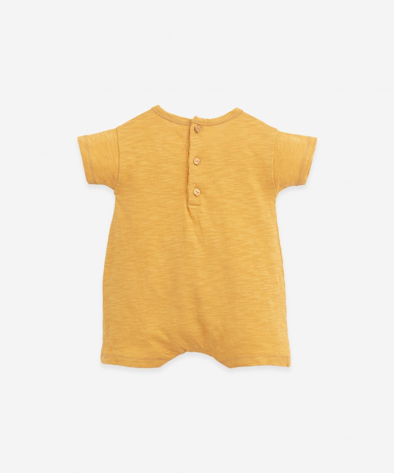 Knitted jumpsuit in organic cotton