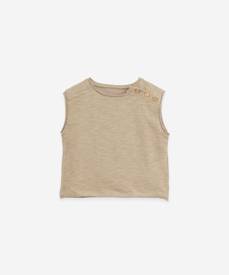T-Shirt senza maniche in cotone biologico