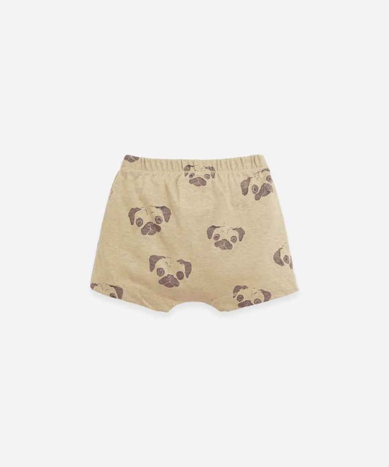 Pantalón corto de algodón orgánico y lino