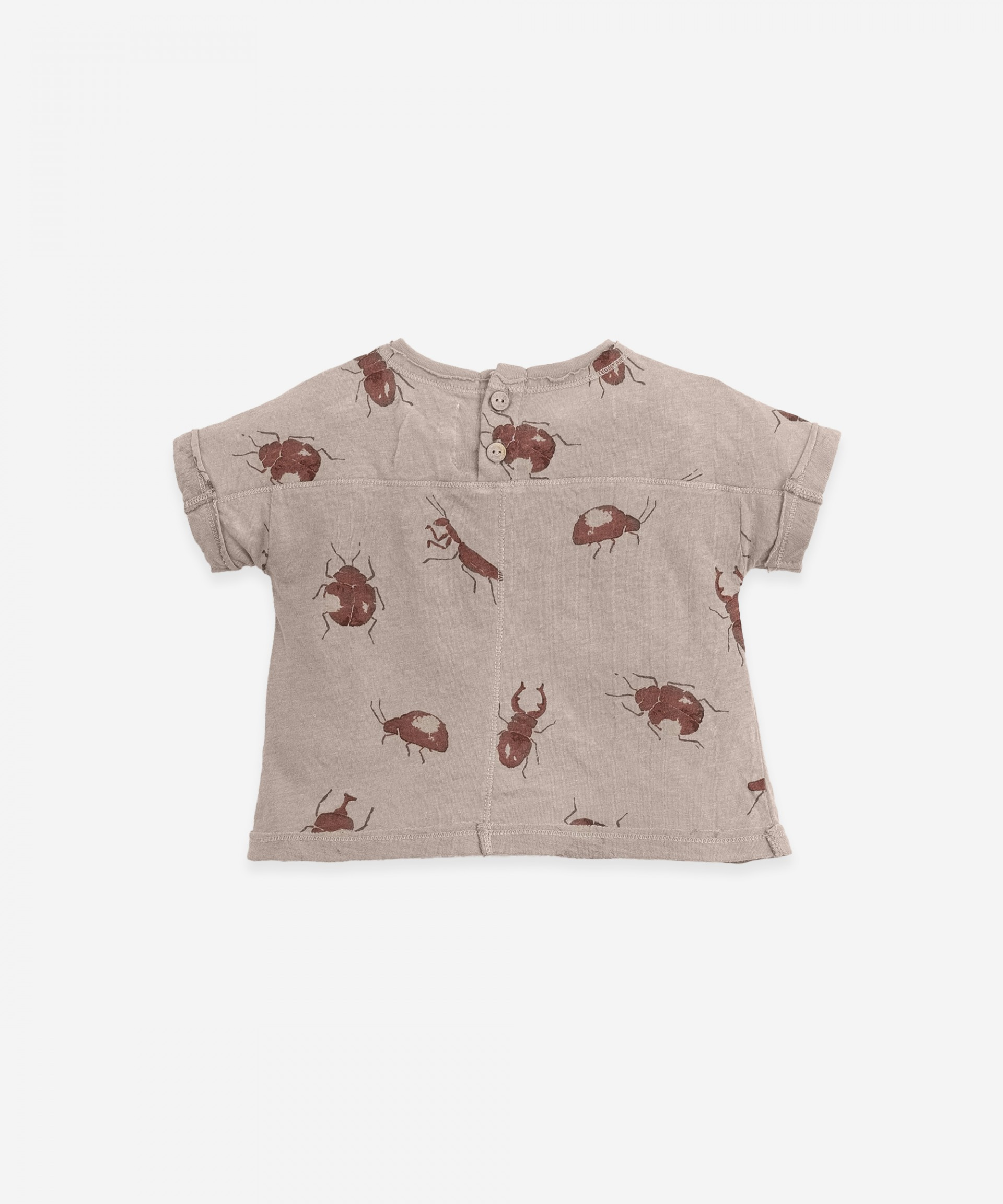 T-shirt in organic cotton and linen | Botany