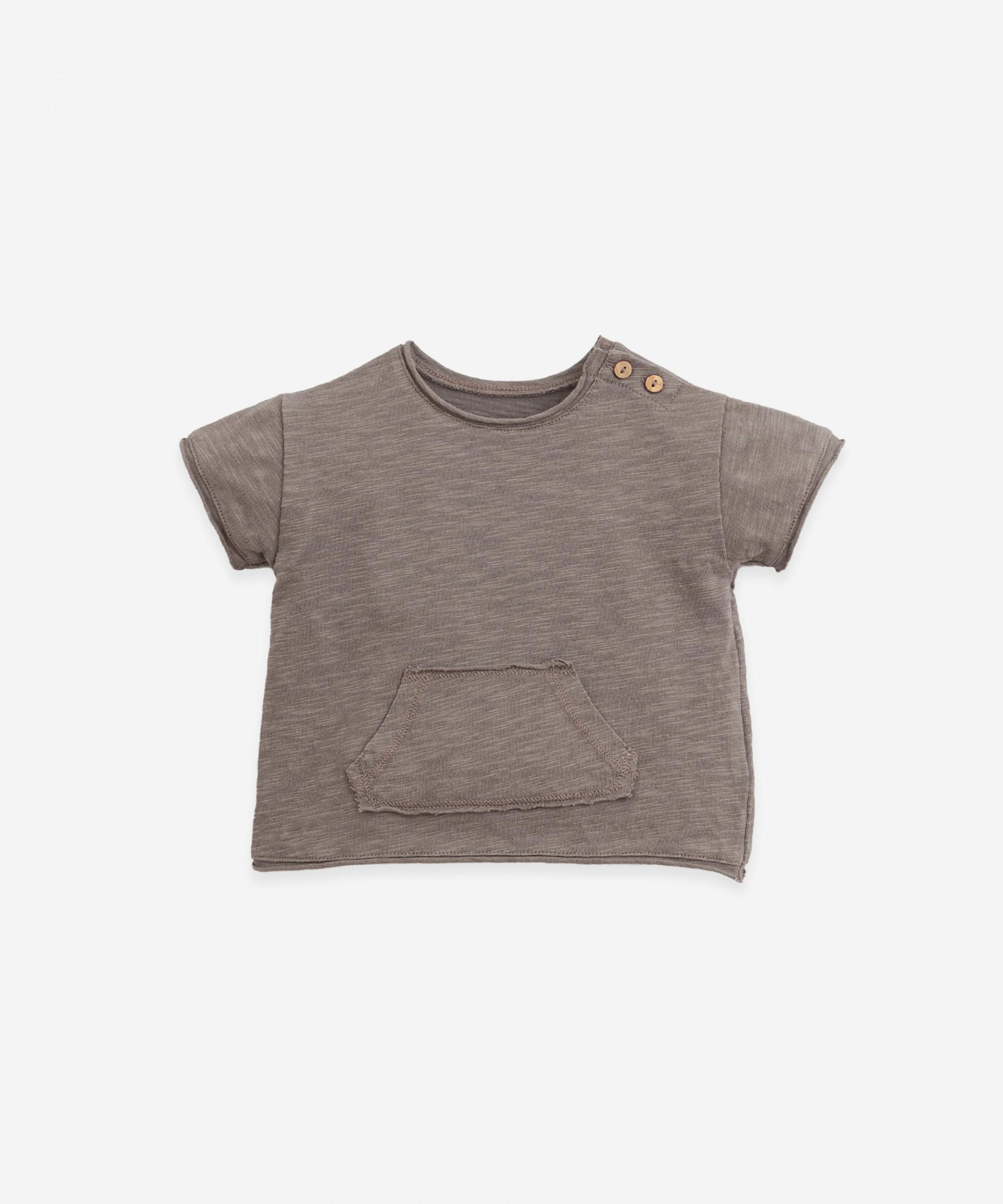 T-shirt em algodão orgânico com bolso | Botany