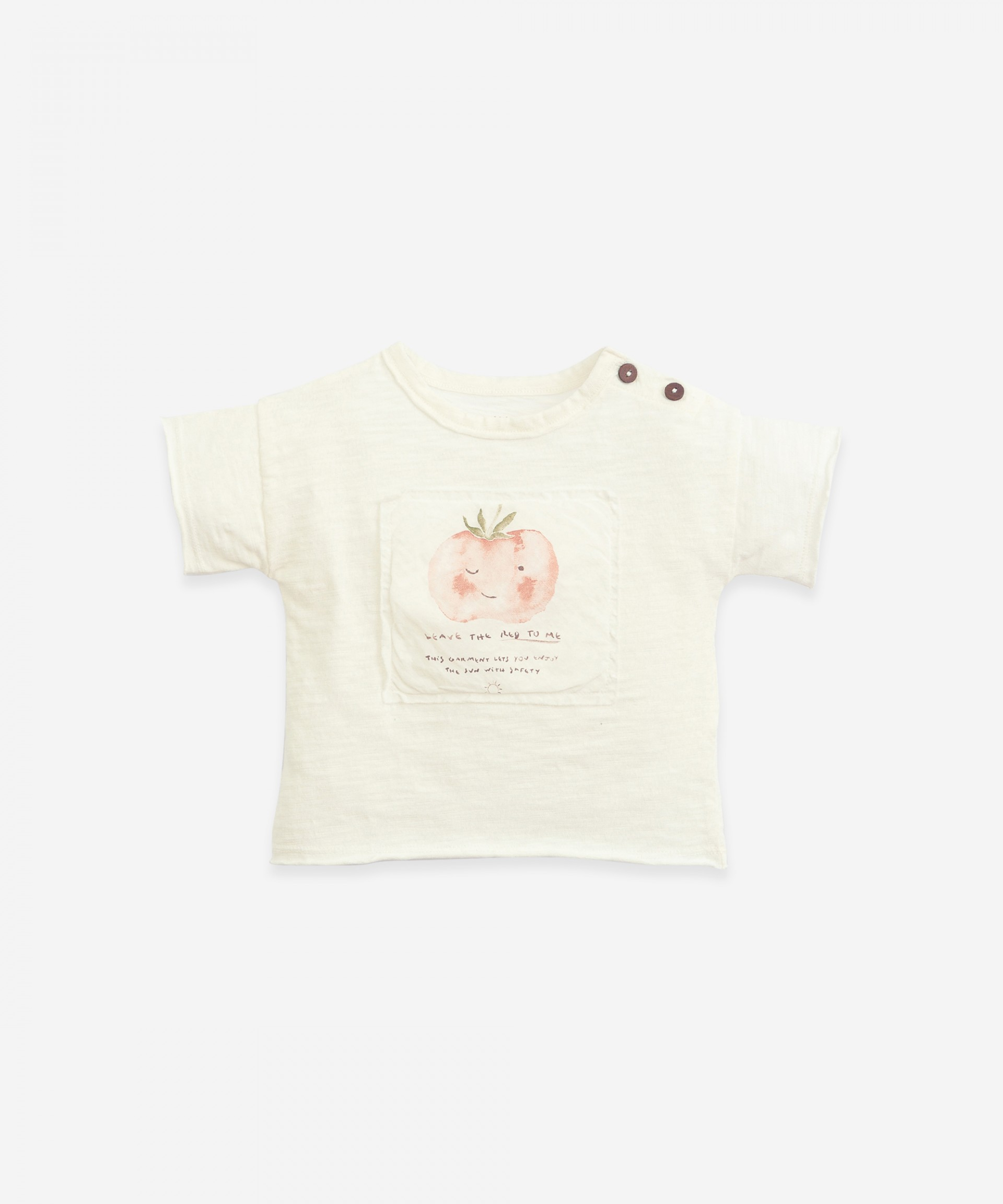 Anti-UV T-shirt with opening on the shoulder | Botany