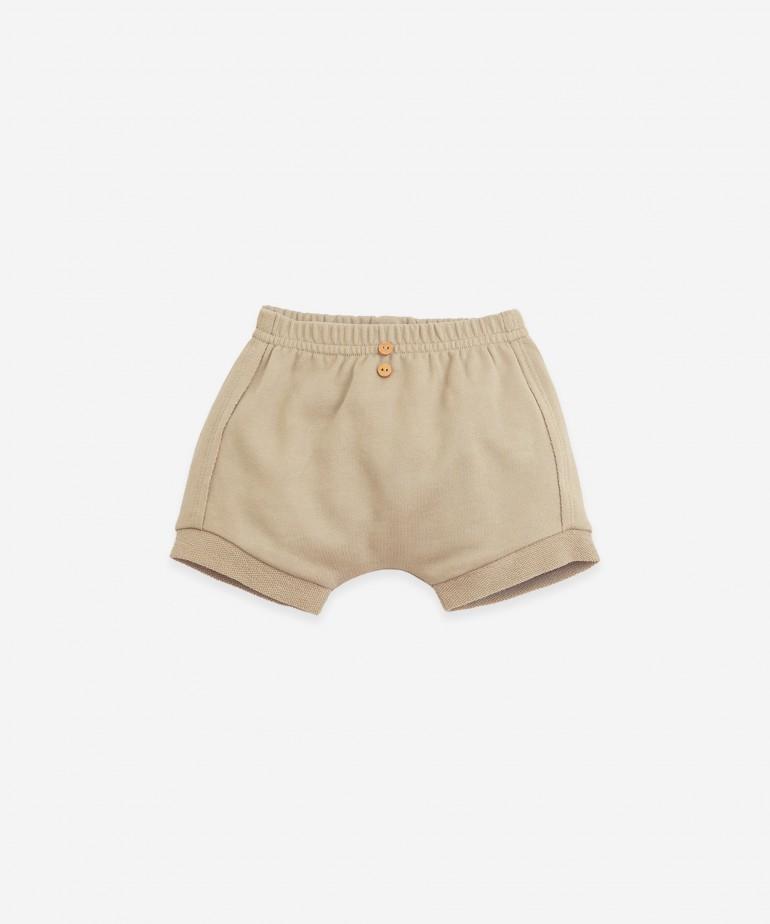Pantalón corto de punto de algodón orgánico