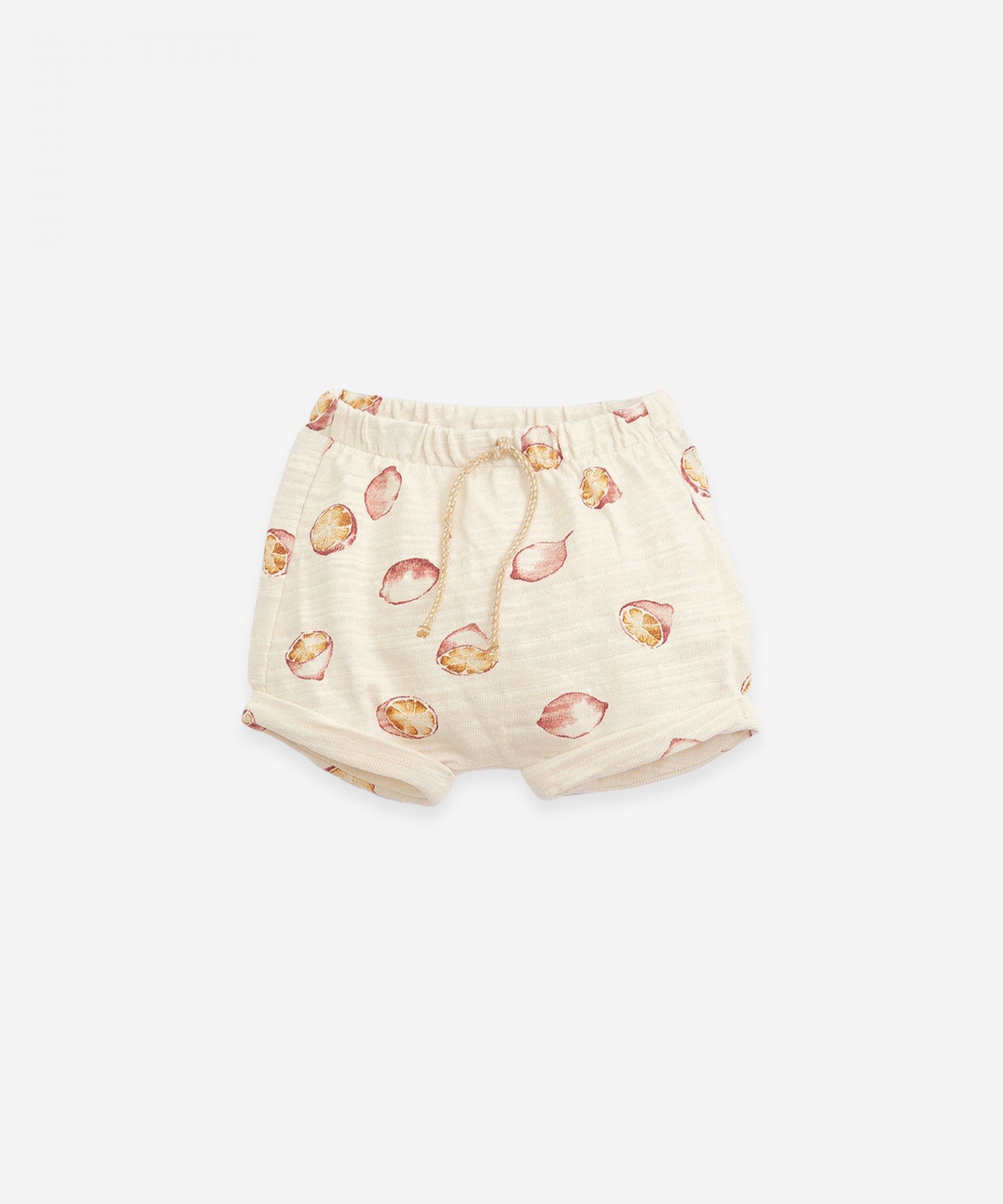 Shorts in organic cotton with pleats| Botany