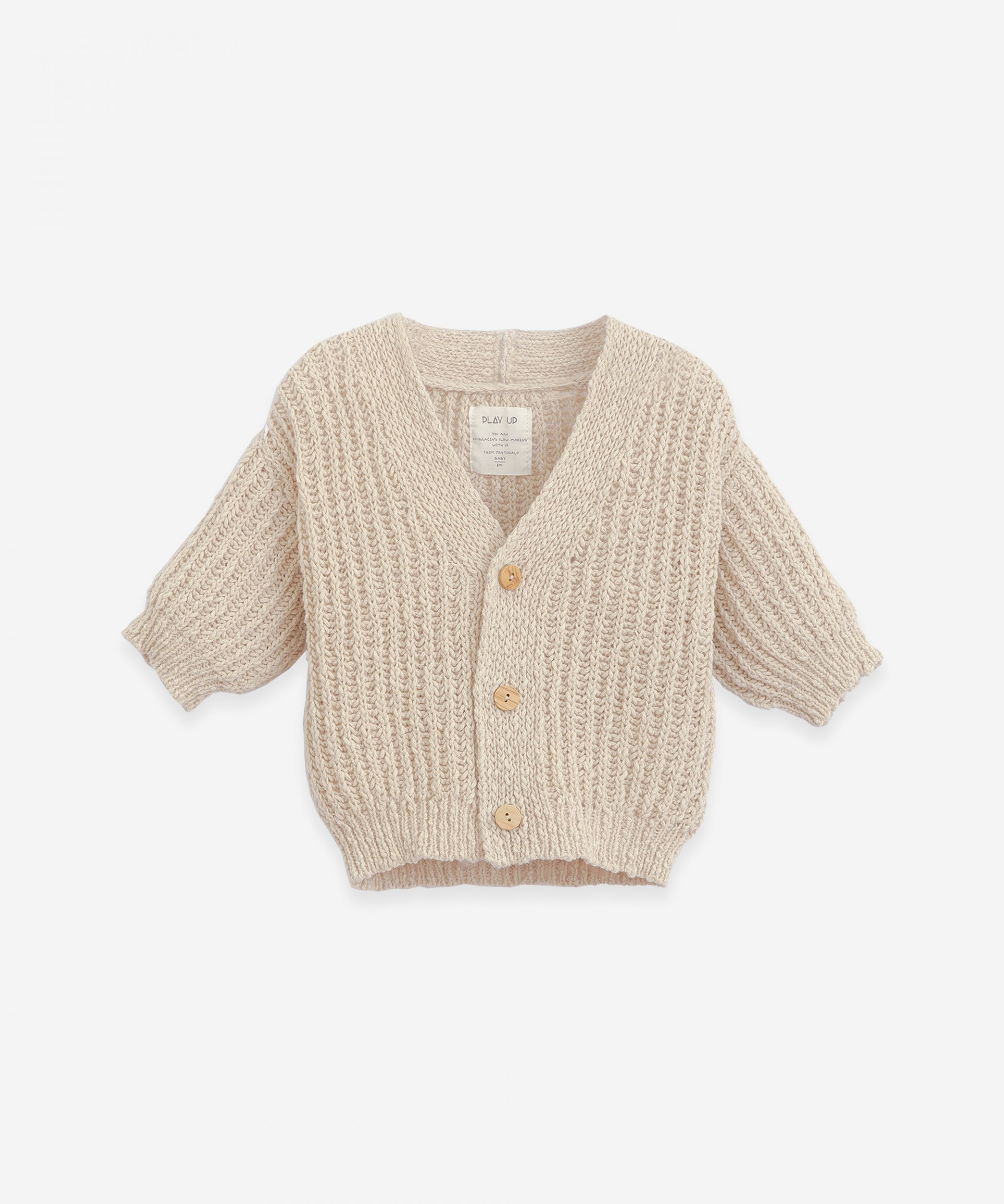 Jersey stitch V-neck cardigan | Botany