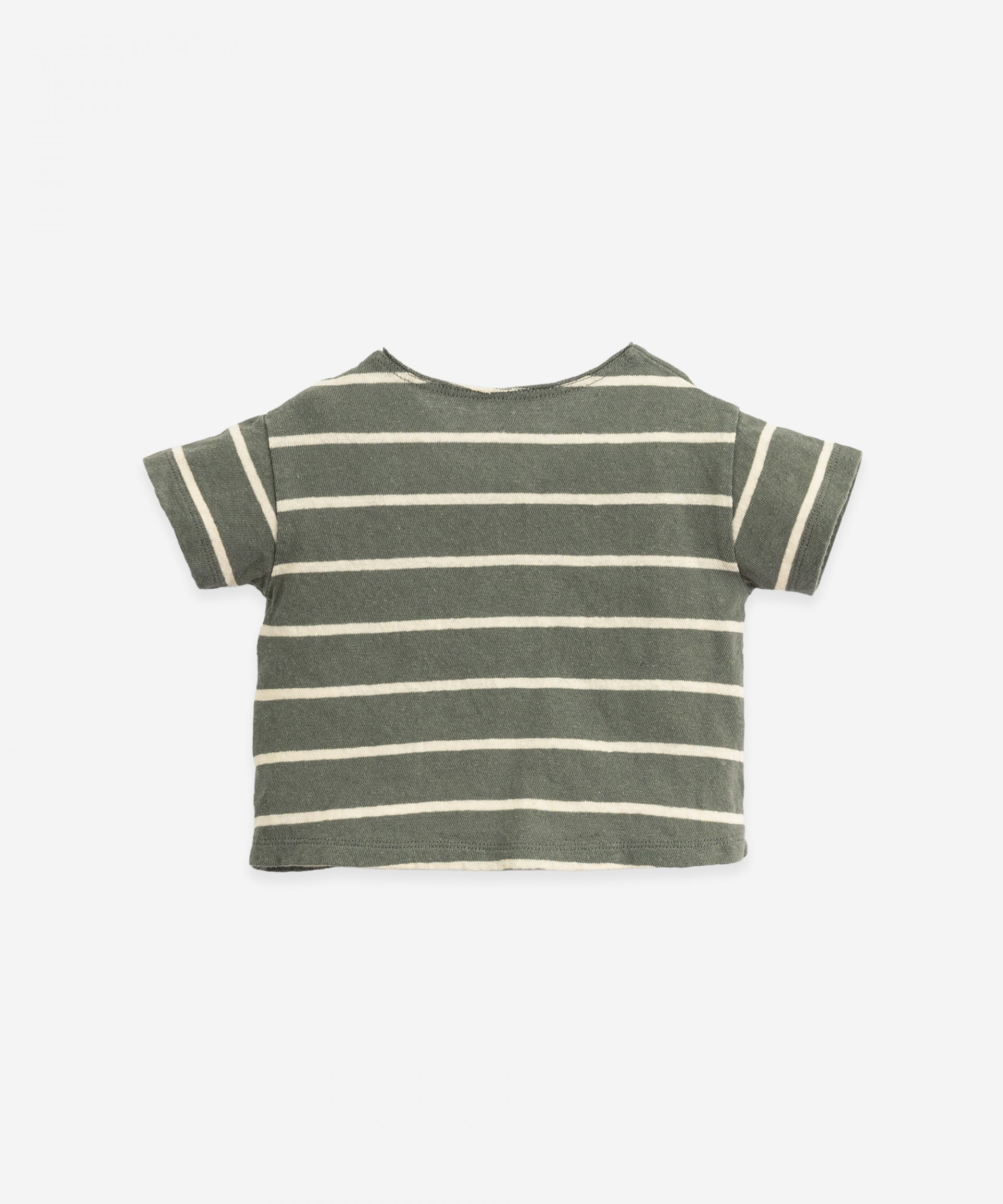 T-shirt with button opening | Botany