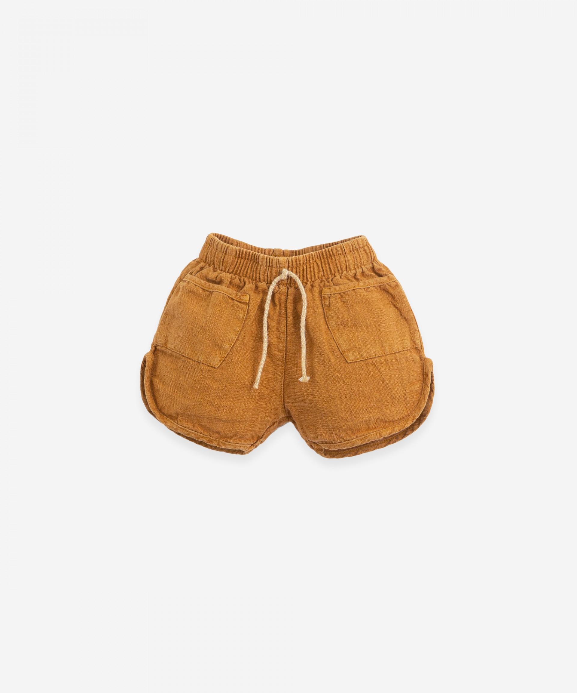 Shorts with jute cord | Botany