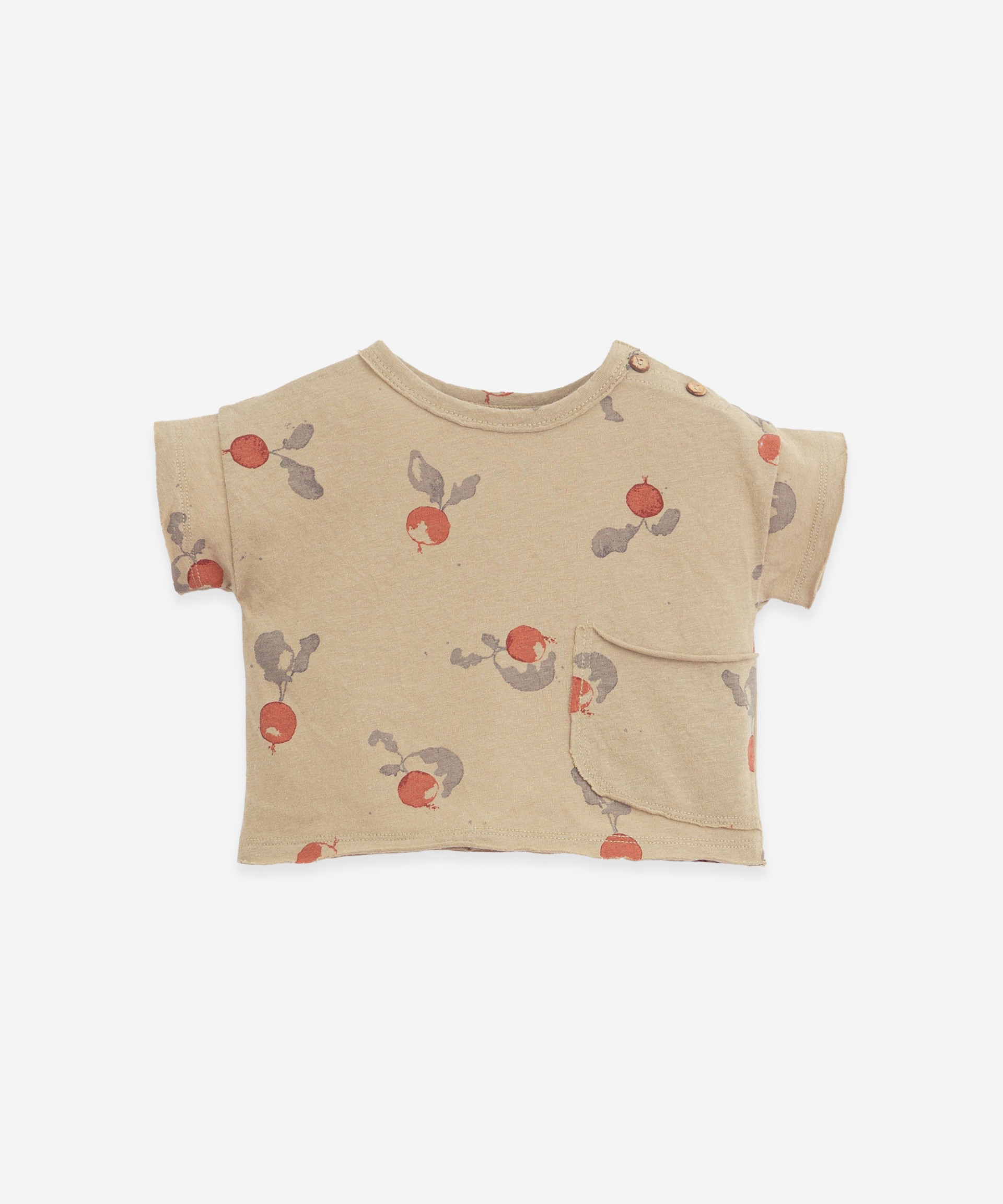 T-shirt con tasca grande | Botany