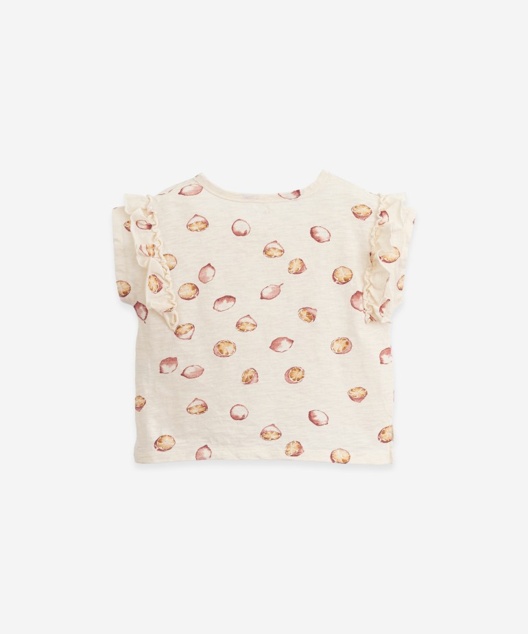 T-shirt with lemons print