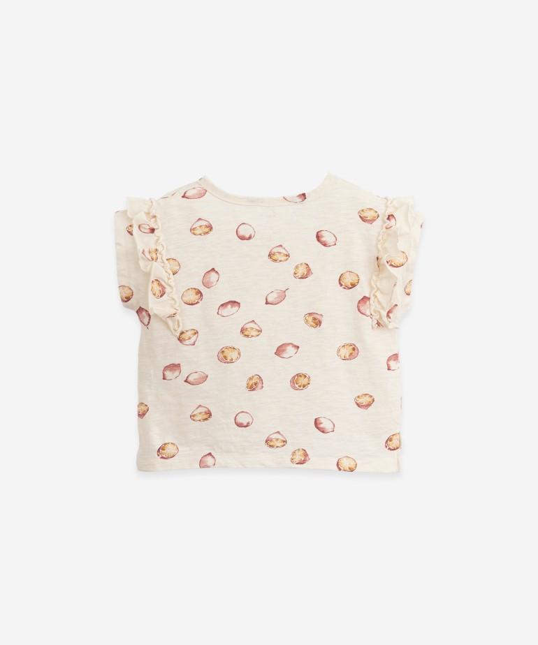 T-shirt com estampado de limões