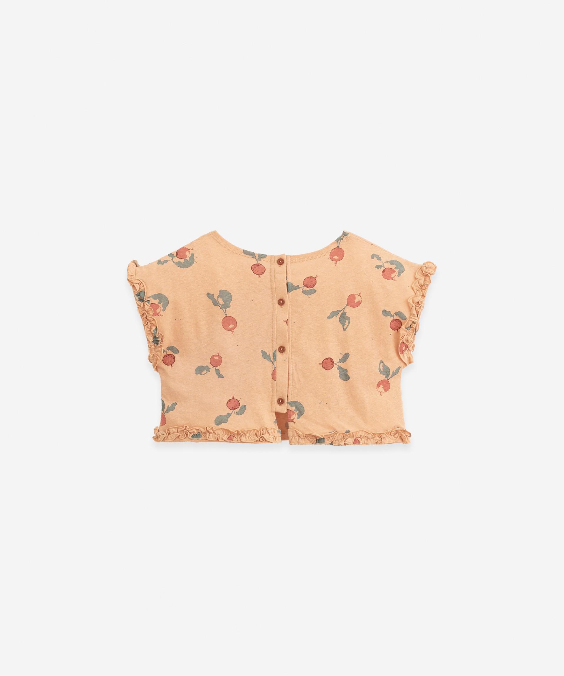 T-shirt with frill | Botany