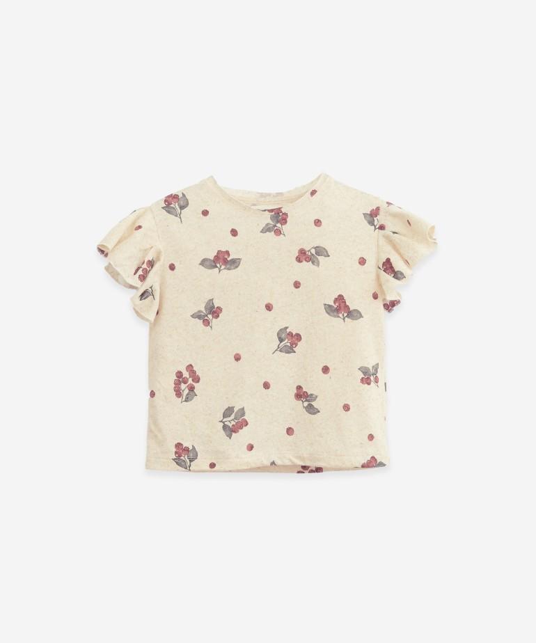 T-shirt em algodão orgânico e cânhamo