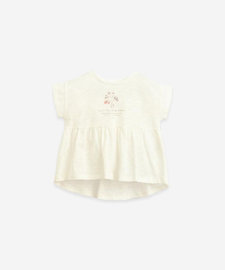 T-shirt em algodão orgânico anti-UV