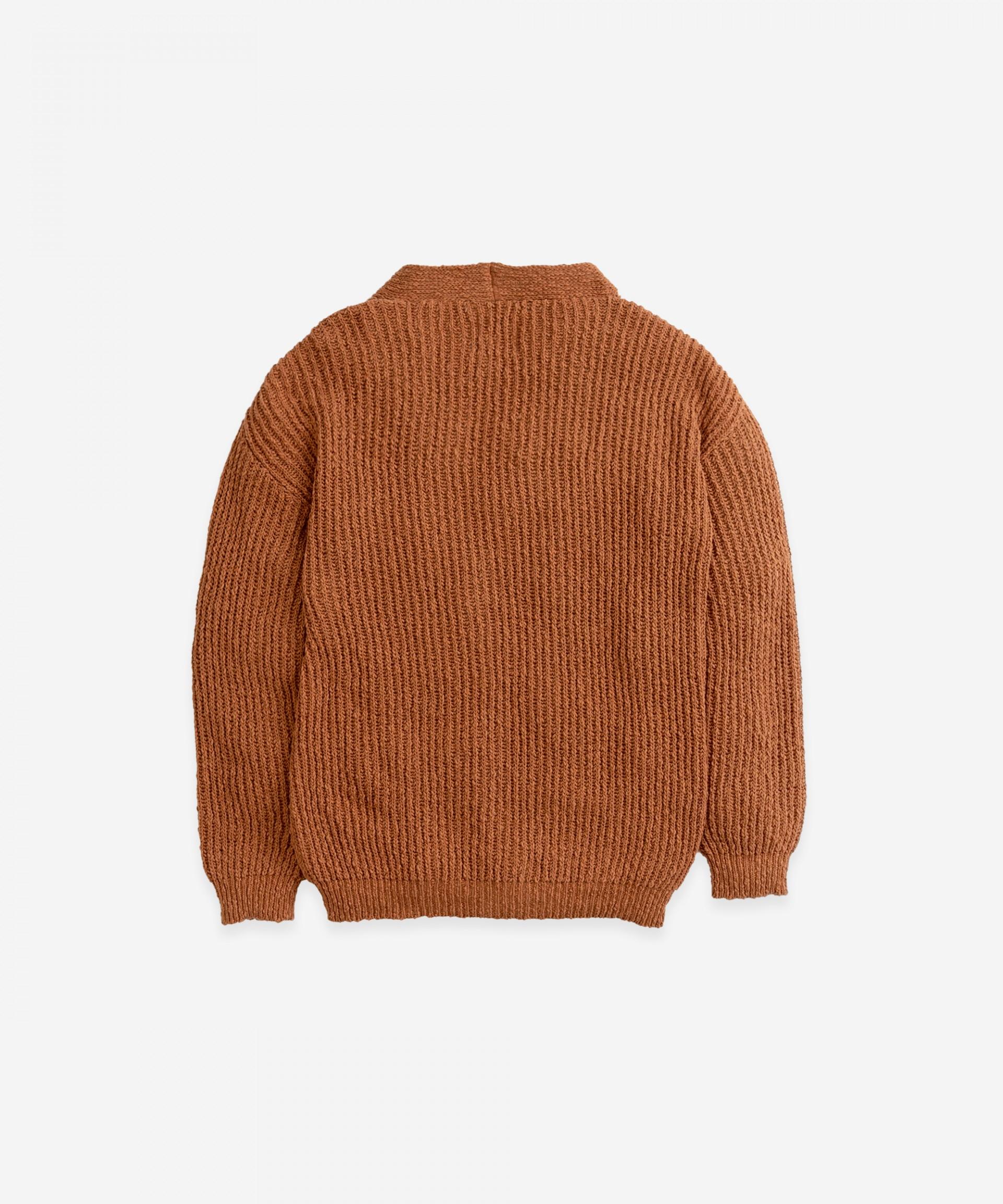 Casaco tricot com decote em V | Botany