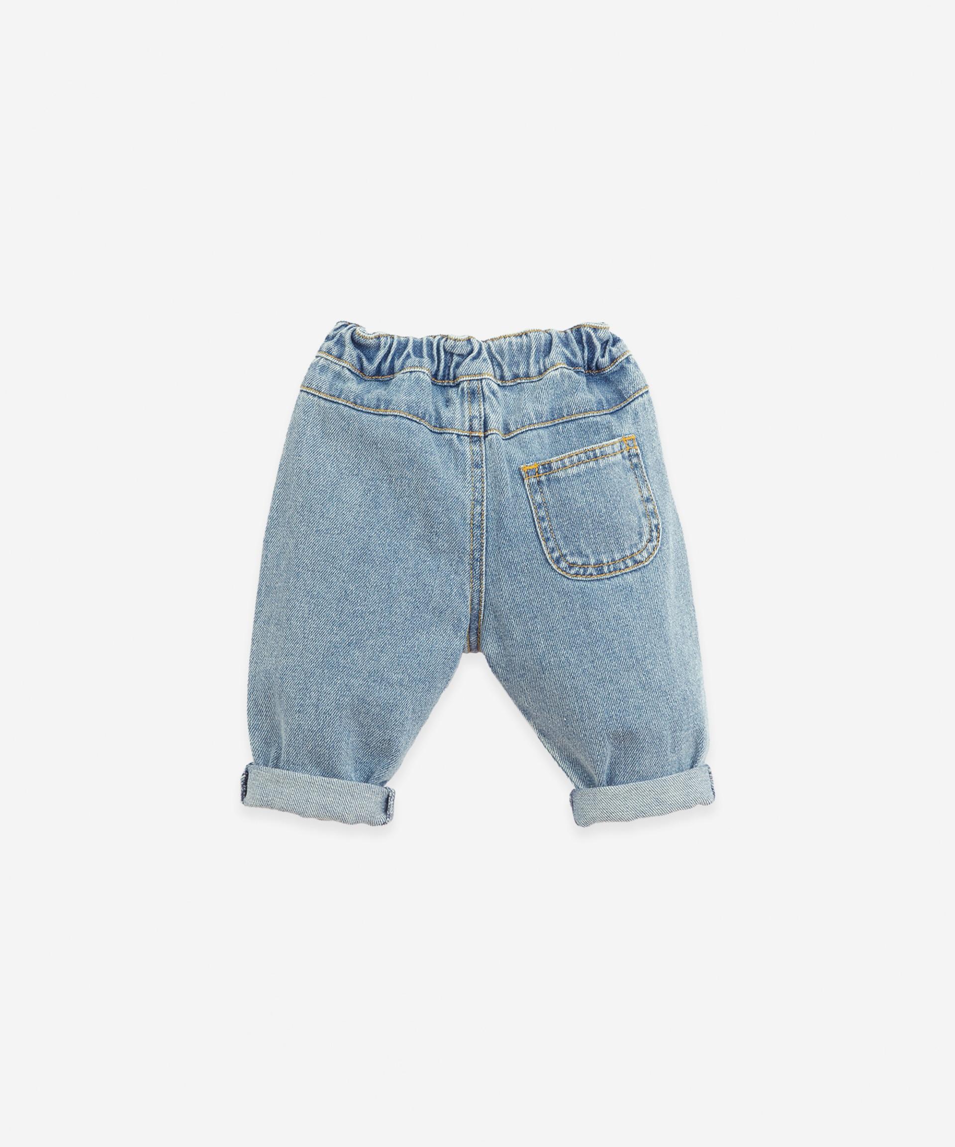 Pantaloni di jeans di cotone | Botany