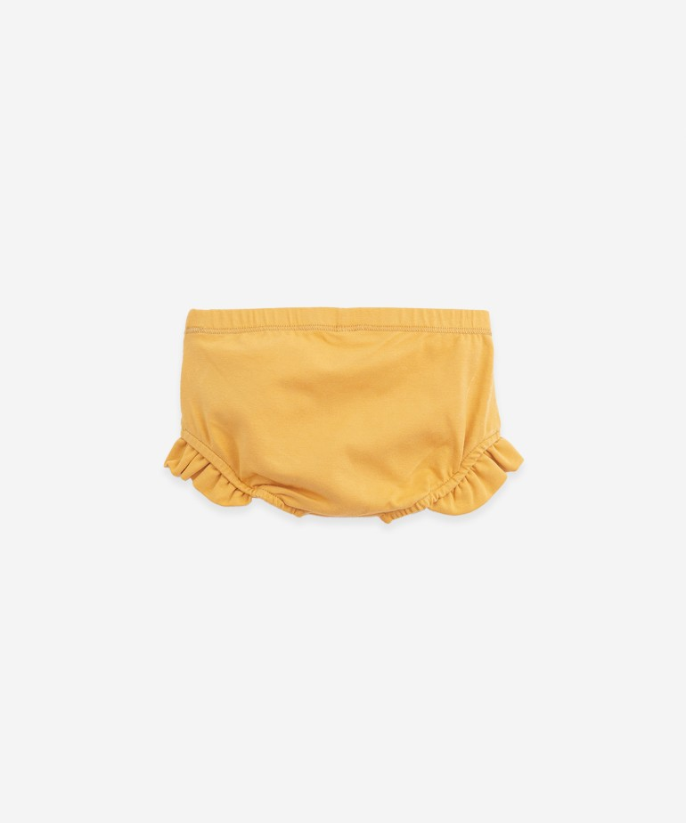 Organic cotton underpants with a frill