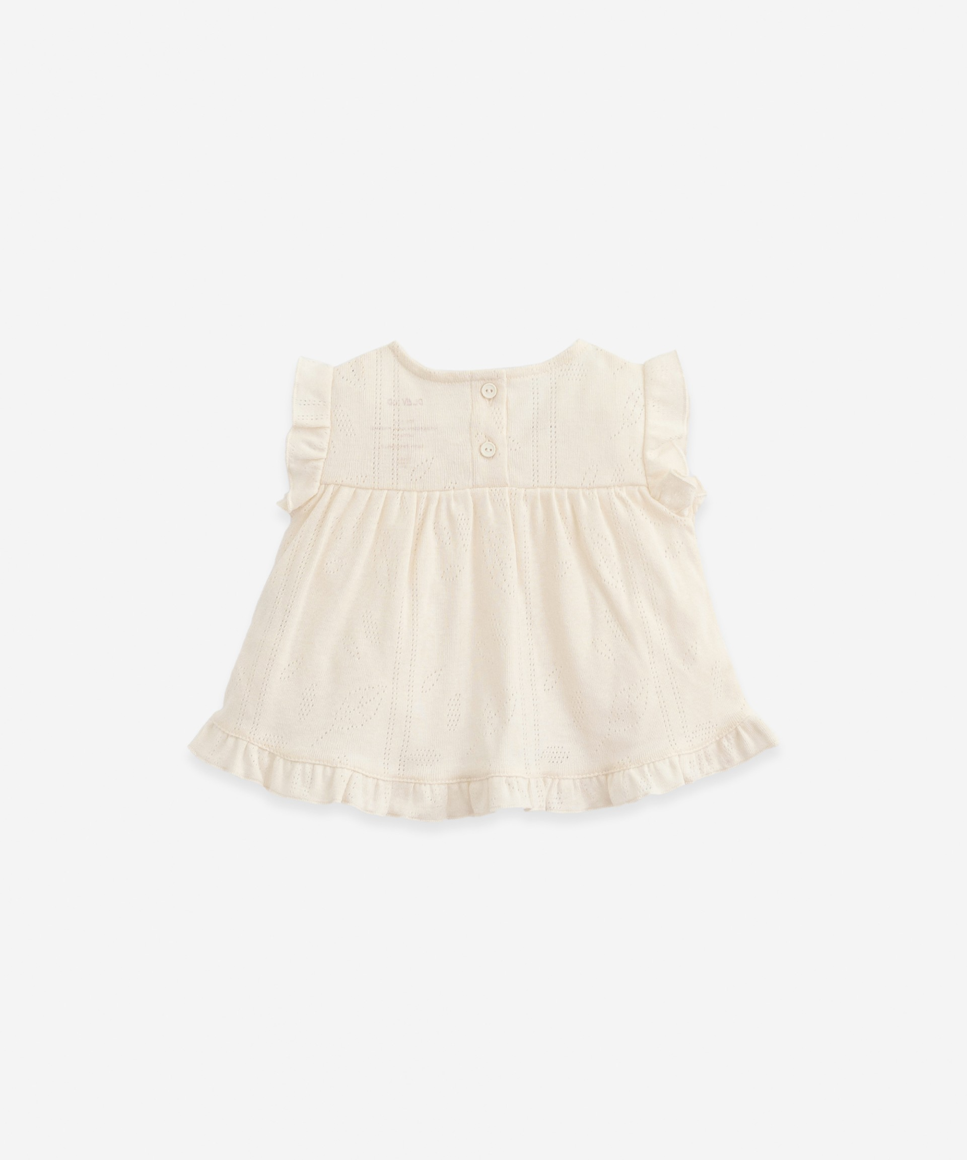 T-shirt with frill on the back | Botany