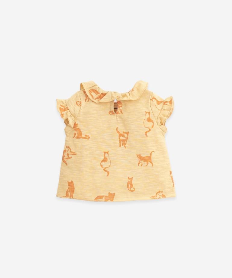 """T-shirt con stampa """"gatti�"""