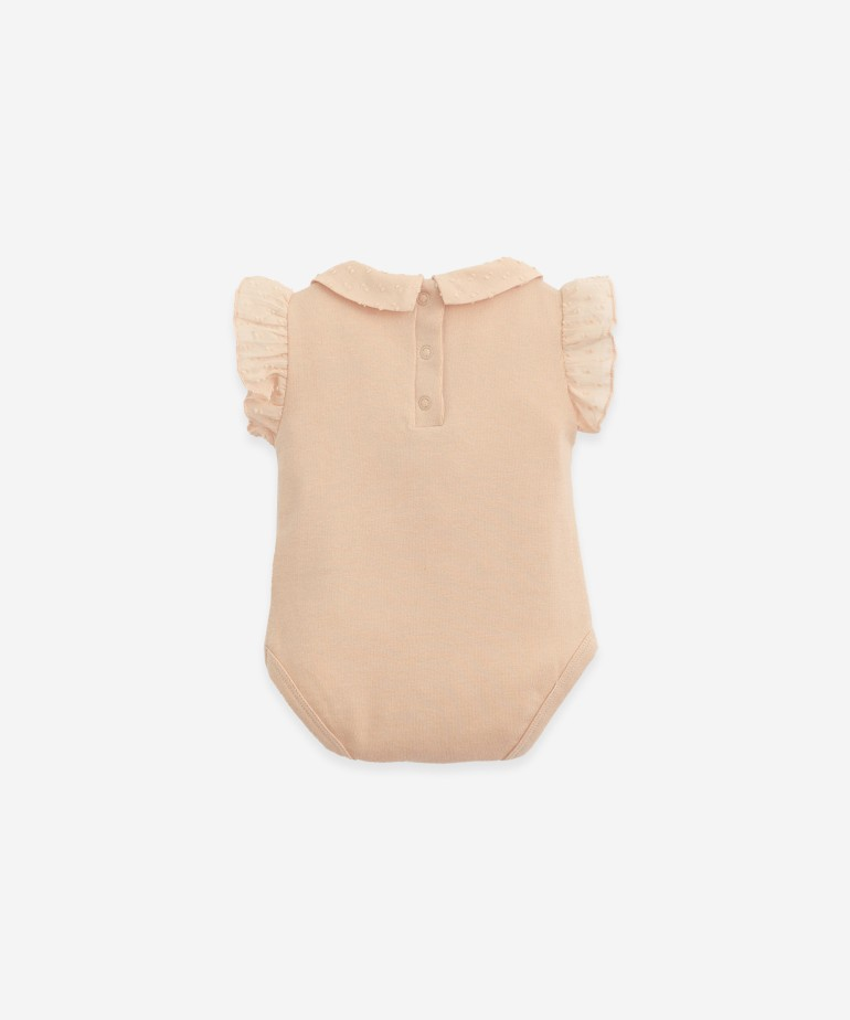 Body in organic cotton with a collar