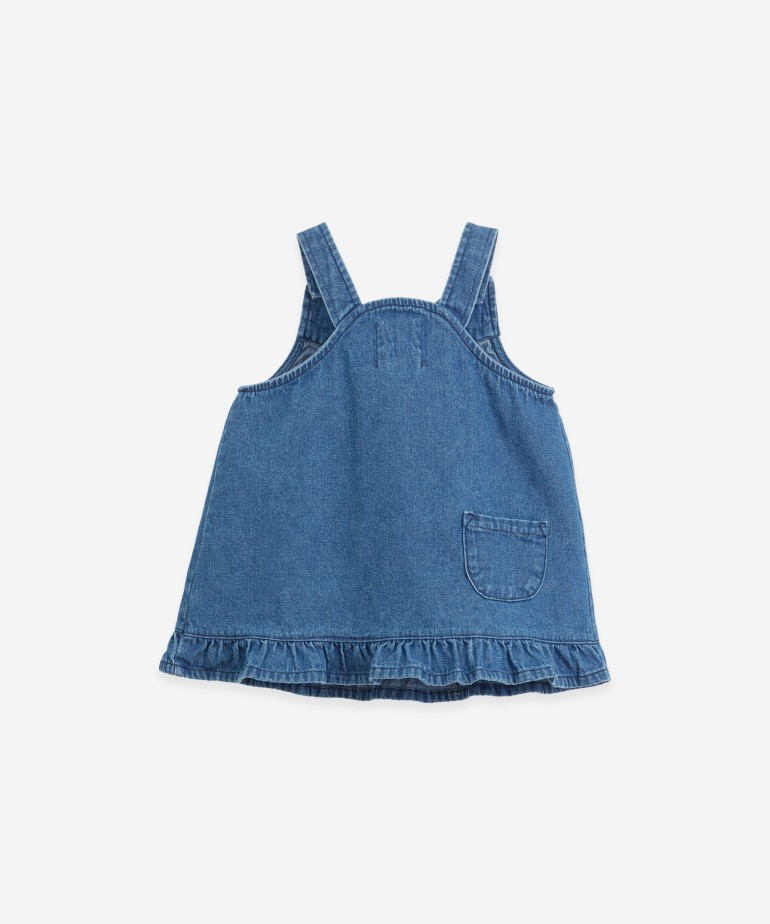 Denim dress with straps