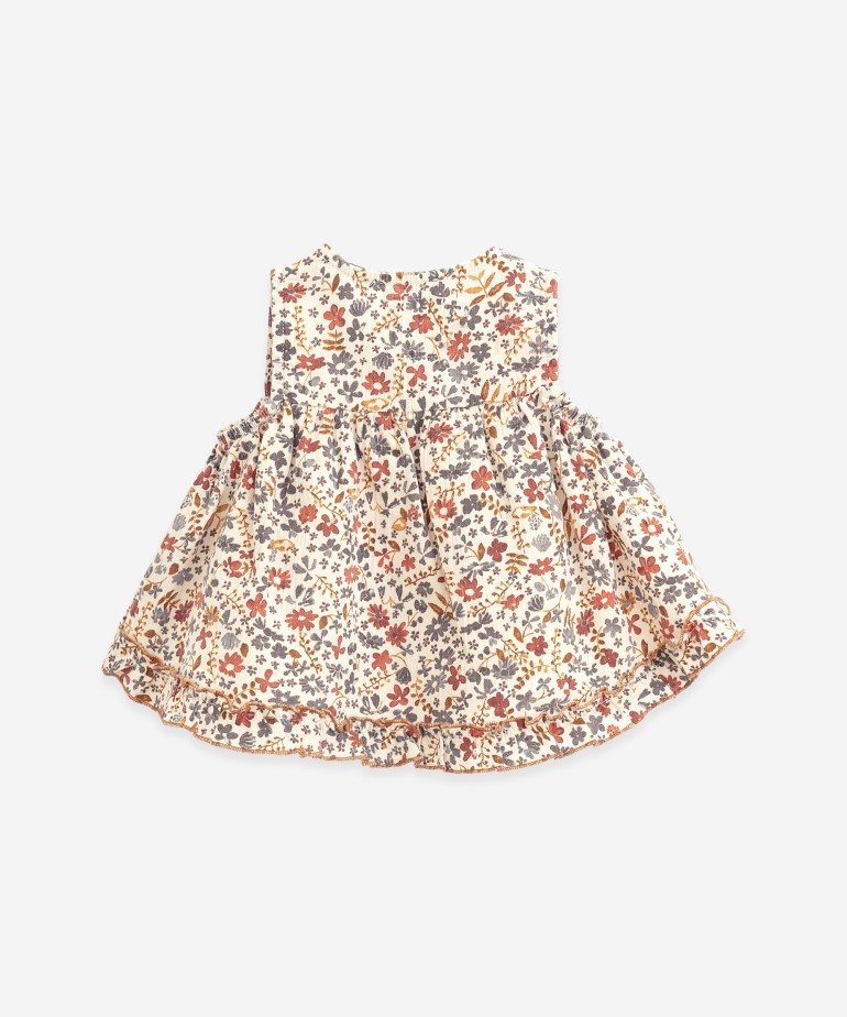 Tunic with flowers print