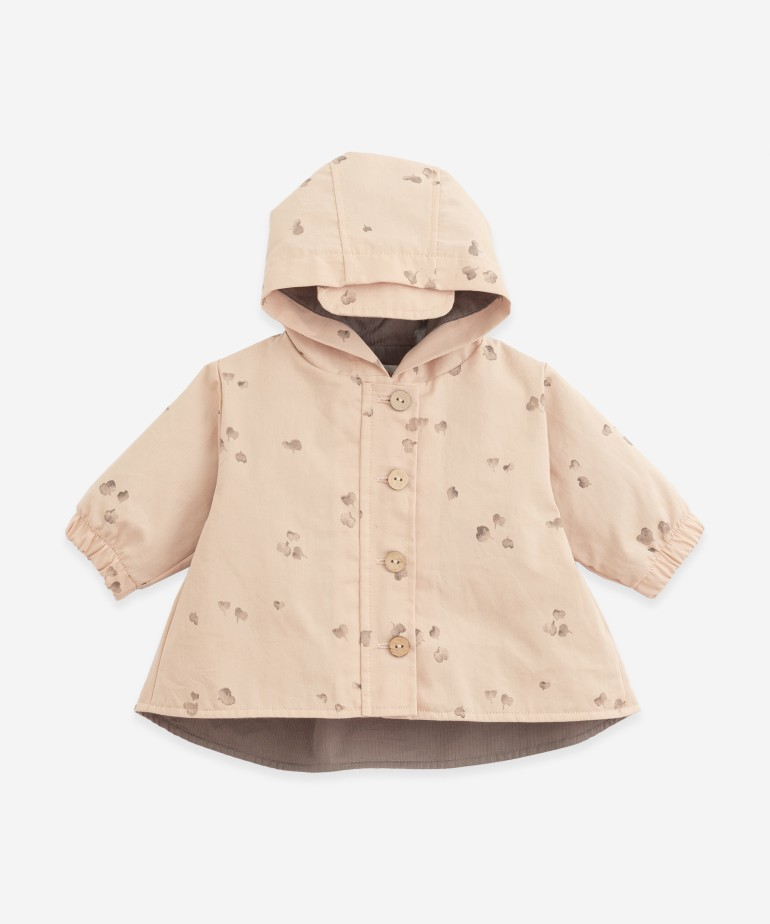 Twill jacket with hood