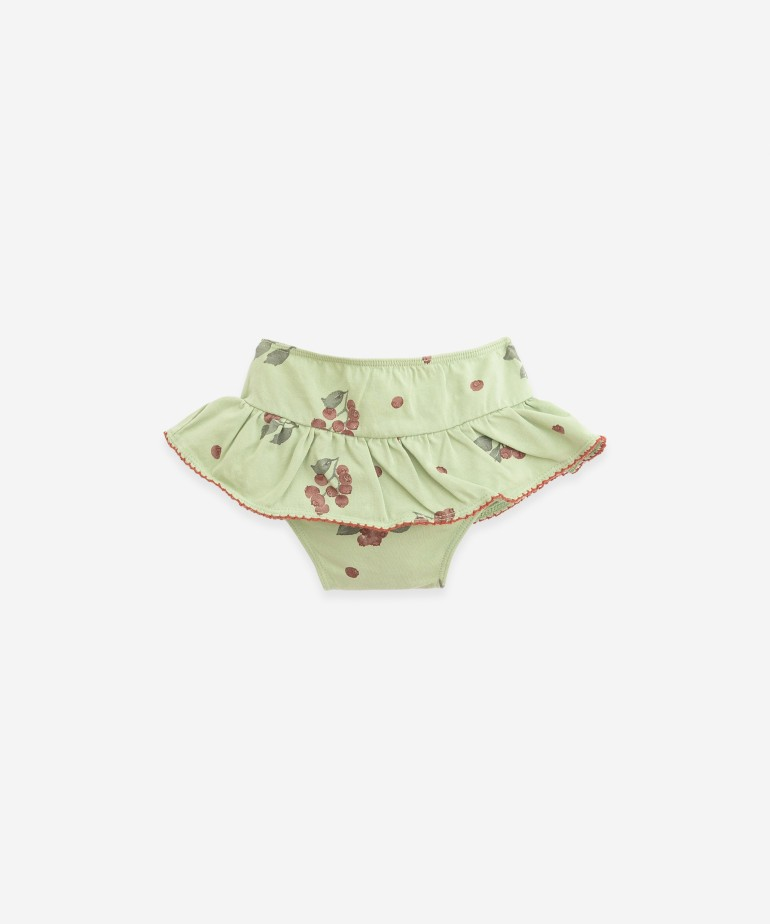 Swimming underpants with blueberry print