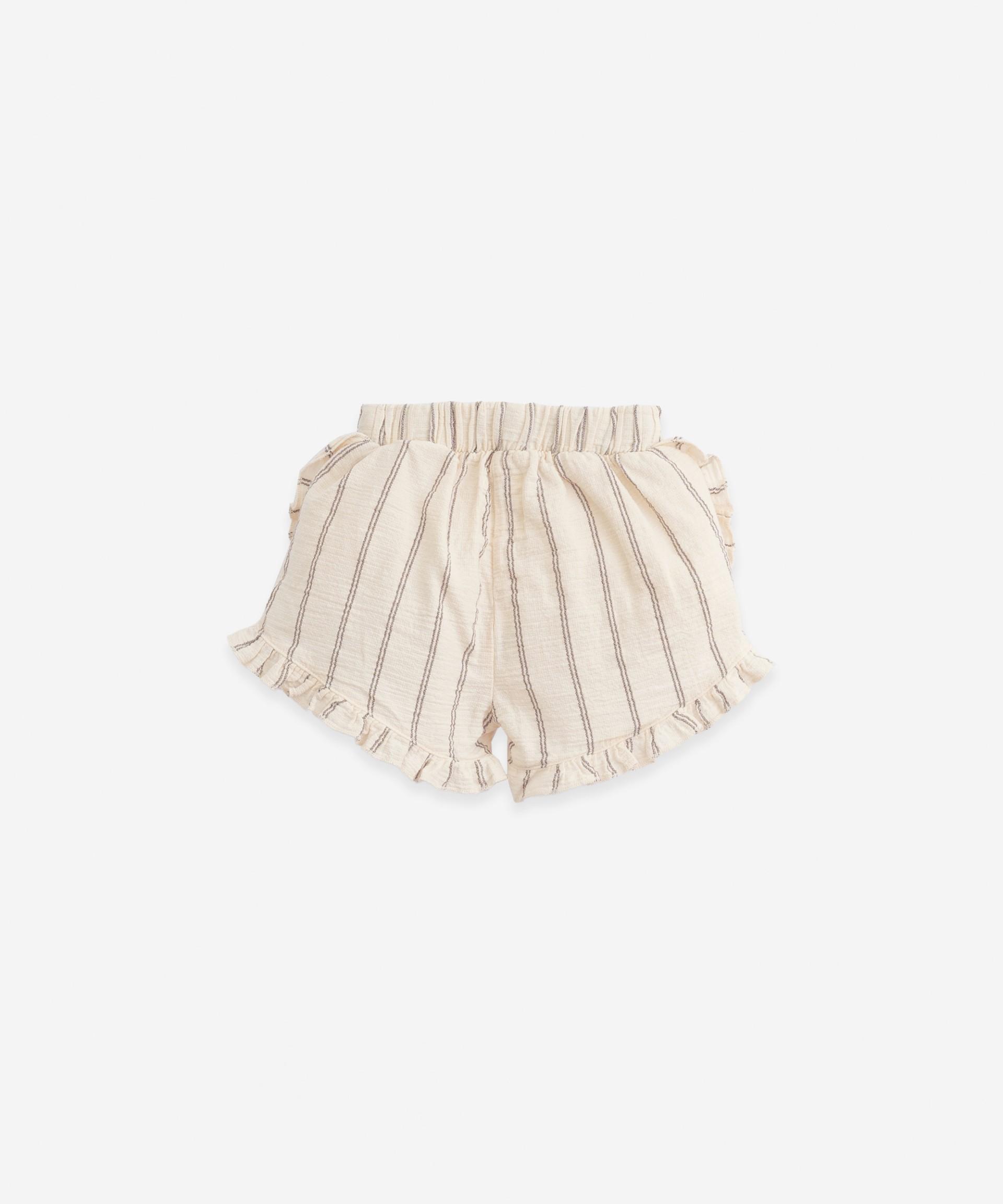 Striped shorts | Botany