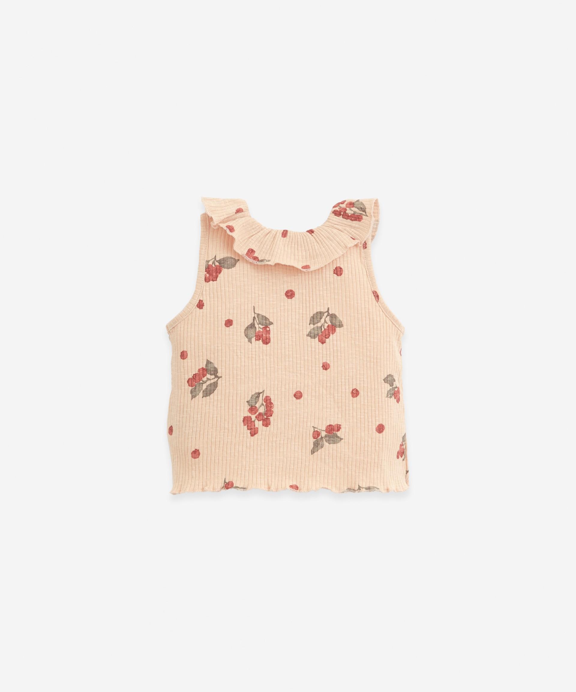 Camiseta de punto de canalé | Botany