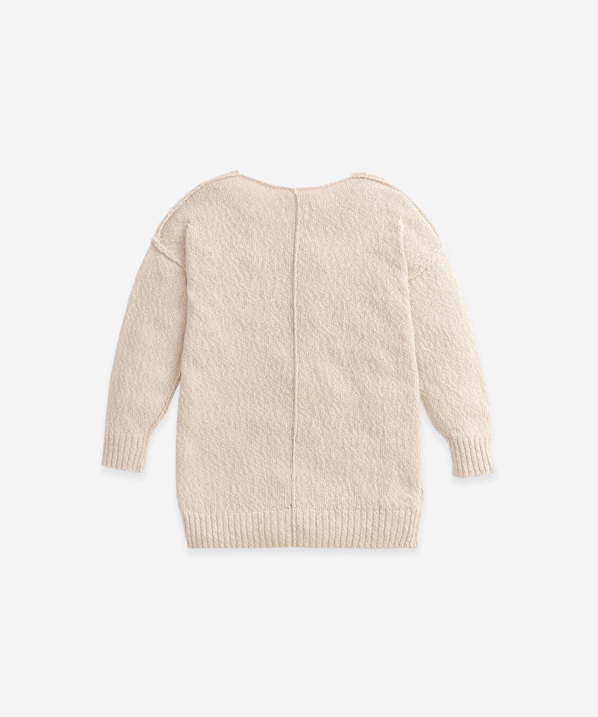 Casaco tricot com costuras do avesso | Botany