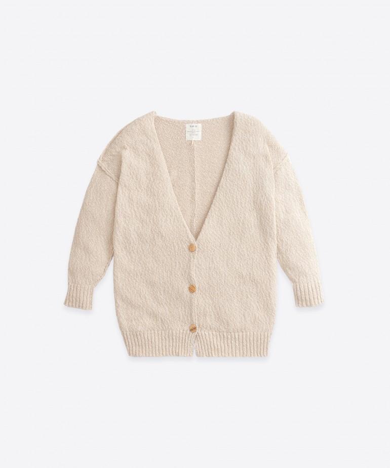 Chaqueta tricot con costuras del revés