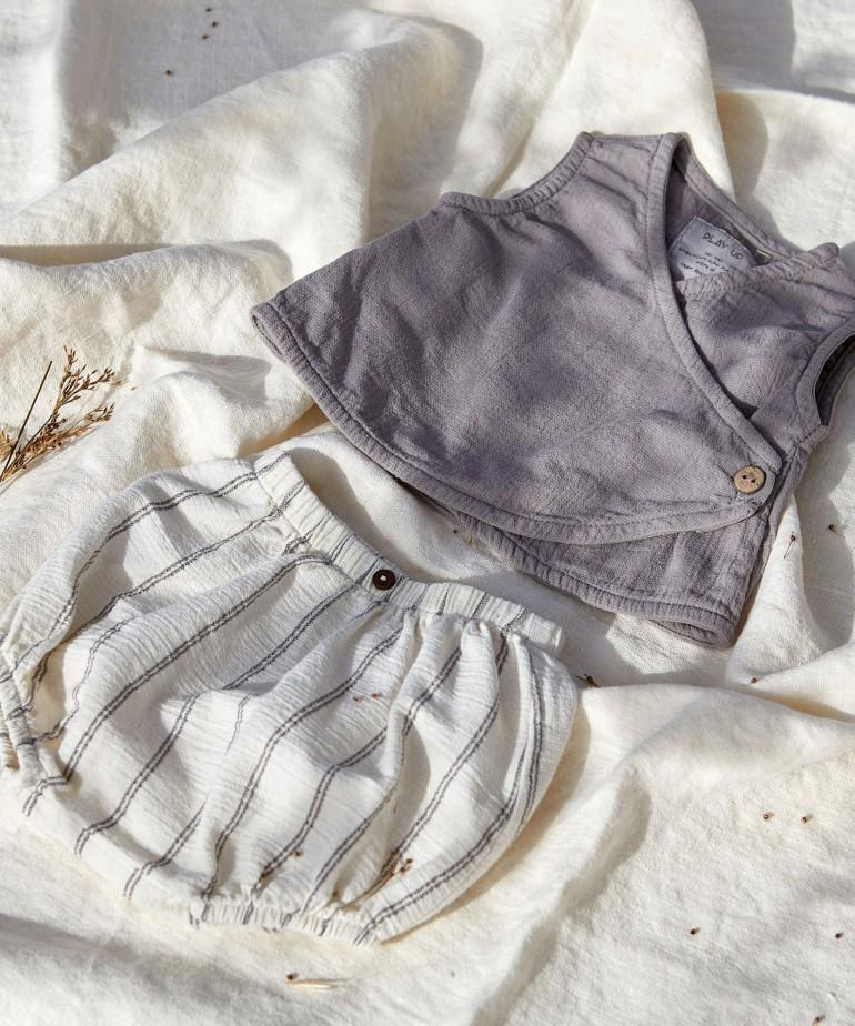 Pantaloncini in cotone biologico e cotone