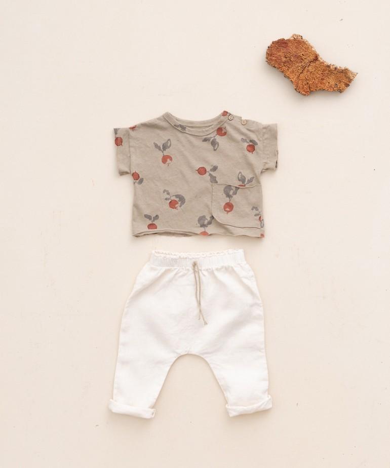 Pantalón de lino con cordón de yute