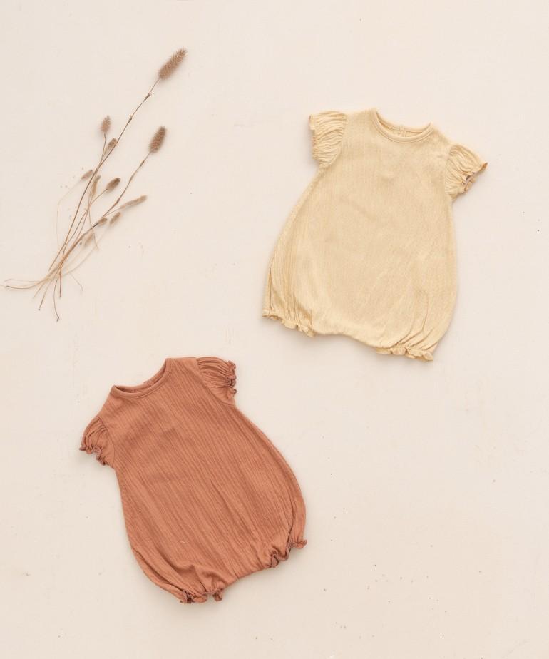 Body in cotone organico a manica corta