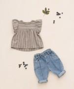 Pantaloni di jeans di cotone   Botany