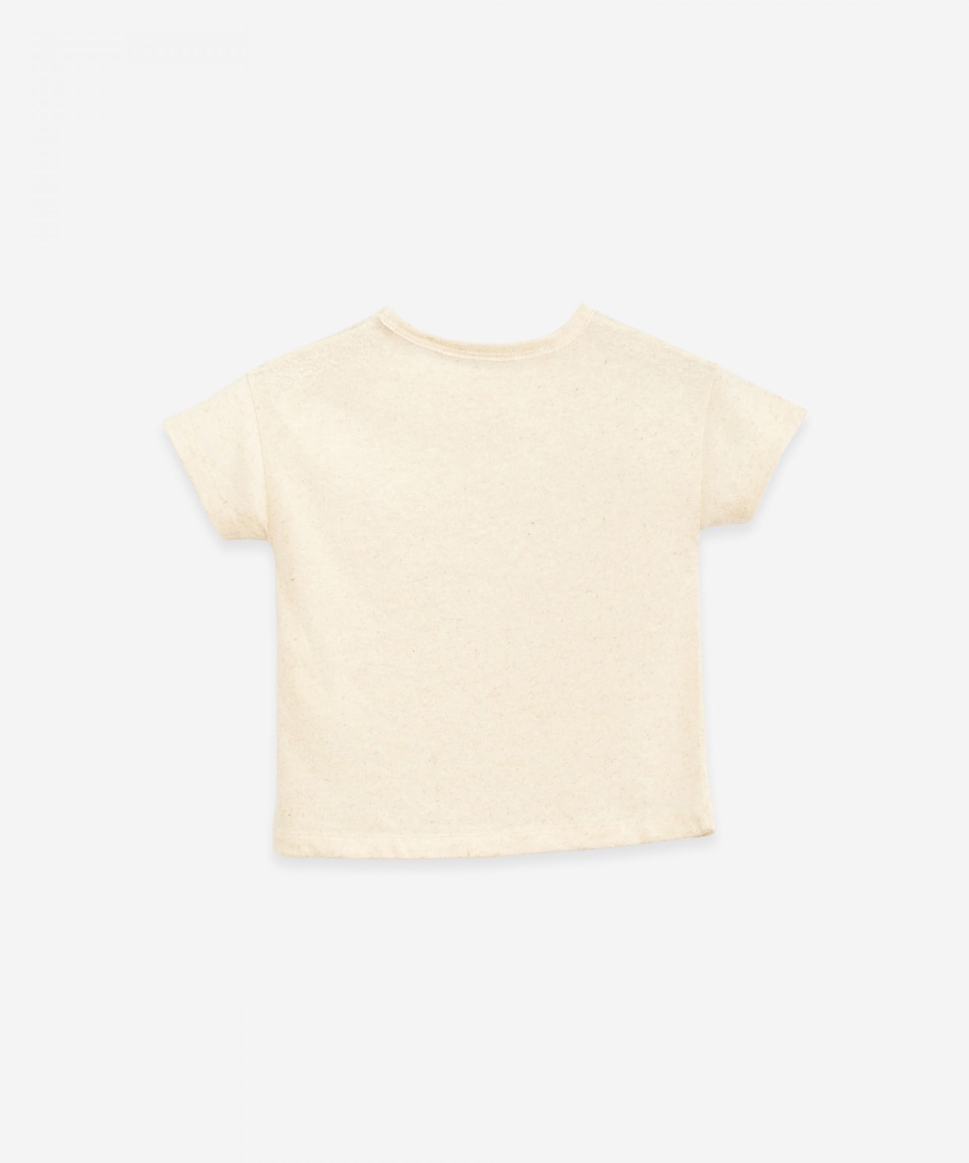 T-shirt em algodão orgânico e cânhamo | Botany