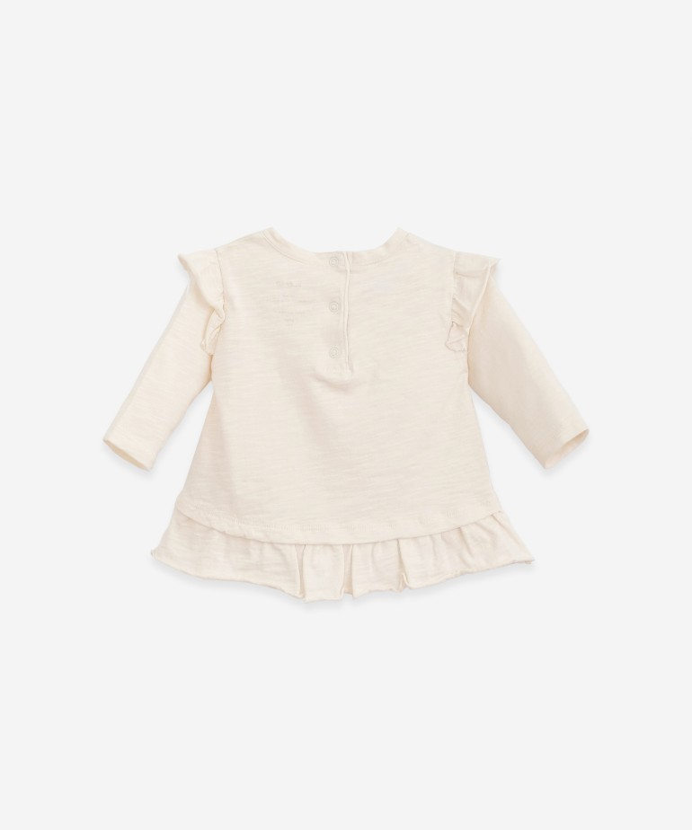 Long-sleeved T-shirt with a frill