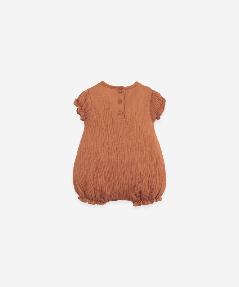 Organic cotton body with short sleeves