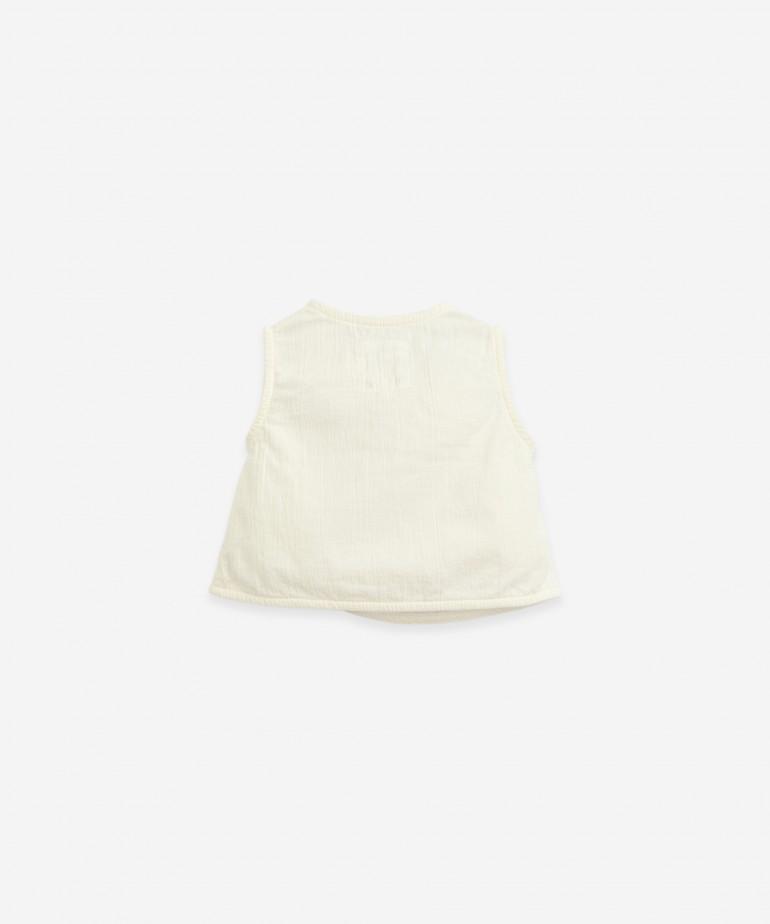 Blusa in tessuto in cotone