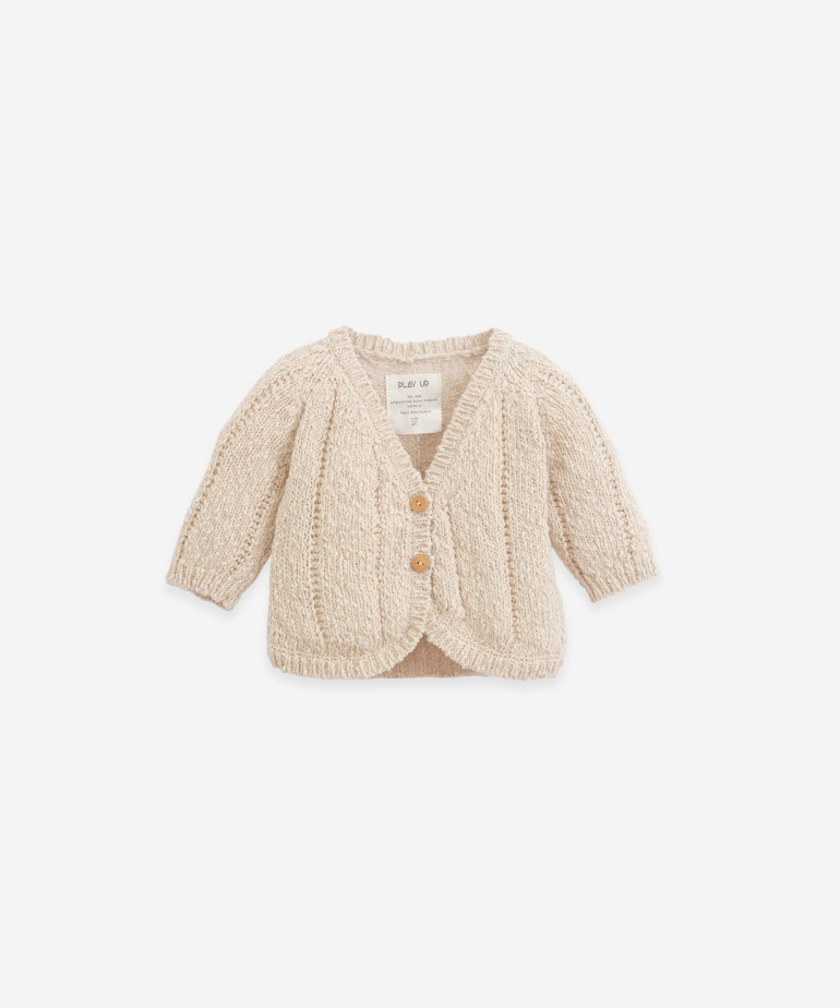 Knitted Jacket with wooden buttons