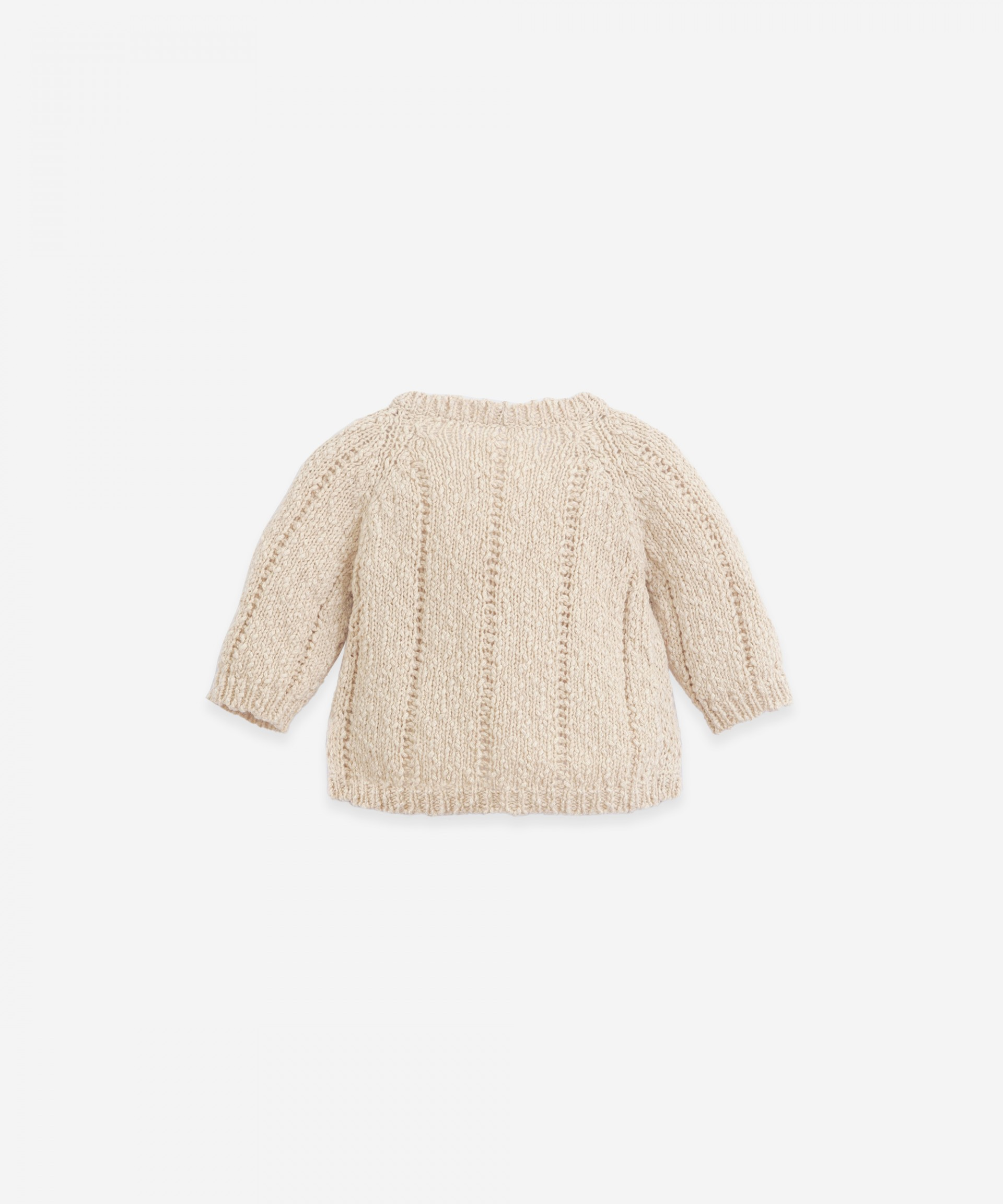Knitted cardigan of cotton and linen | Botany