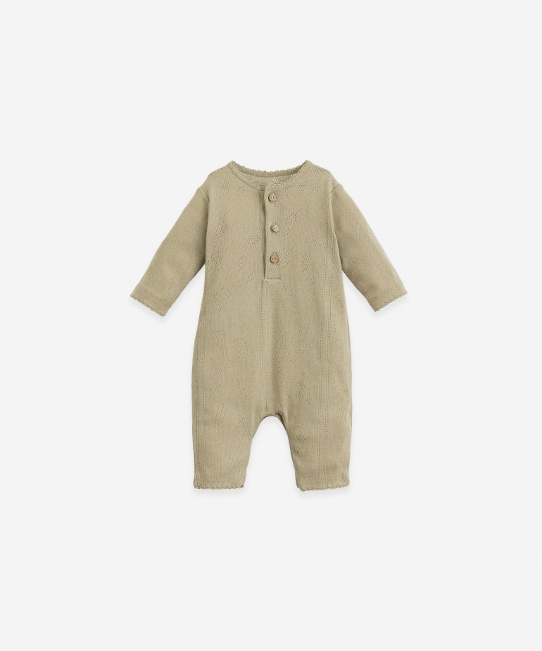 Organic cotton jumpsuit with coconut buttons