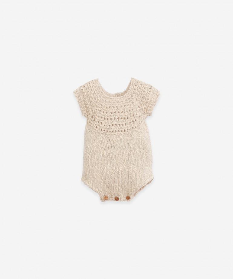 Tutona lavorata a maglia in cotone e lino