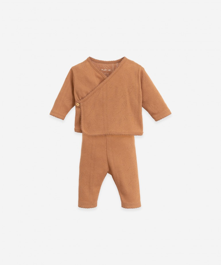 Jersey and trouser set in organic cotton