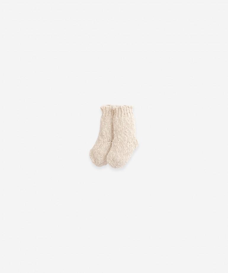 Knitted cotton-linen socks