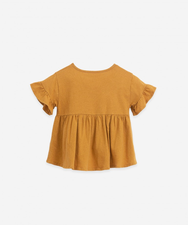 Tunic in organic cotton and linen