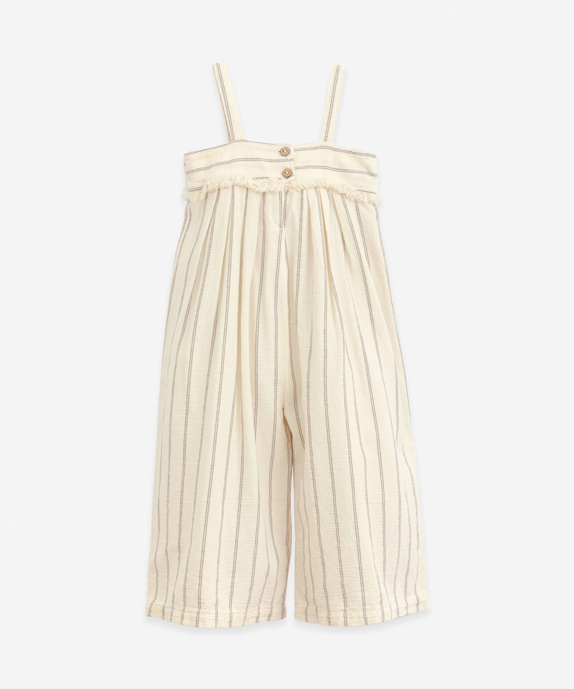 Striped Jumpsuit | Botany